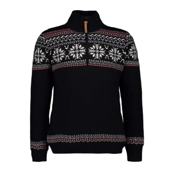 Campagnolo Knitted Pullover - Black