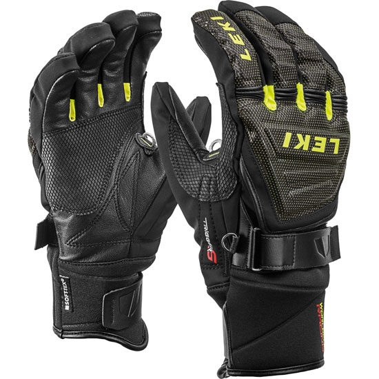 Leki Race Coach C-Tech S Glove - Black/Ice Lemon