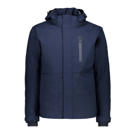 Campagnolo Light Softshell Zip Hood - Black Blue