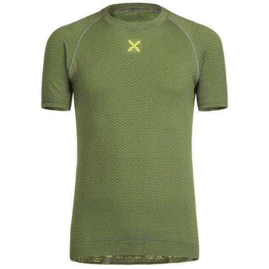 Montura Seamless Warm T-Shirt - Piombo/Verde Foglia