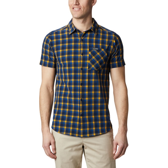 Columbia Triple Canyon SS Shirt - Azul Mini Tonal Plaid