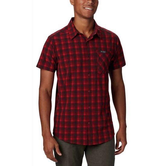 Columbia Triple Canyon SS Shirt - Mountain Red Mini