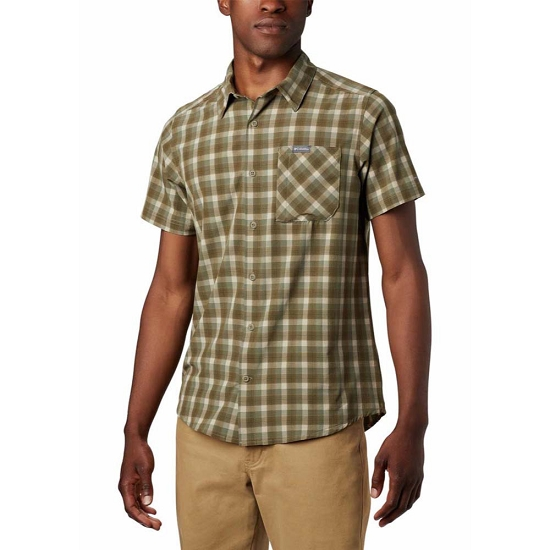 Columbia Triple Canyon SS Shirt - Fossil Mini Tonal