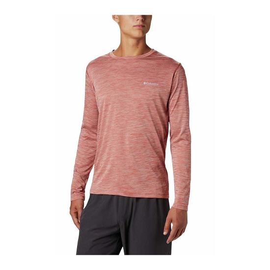 Columbia Zero Rules L/S Shirt - Carnelian Red Heather