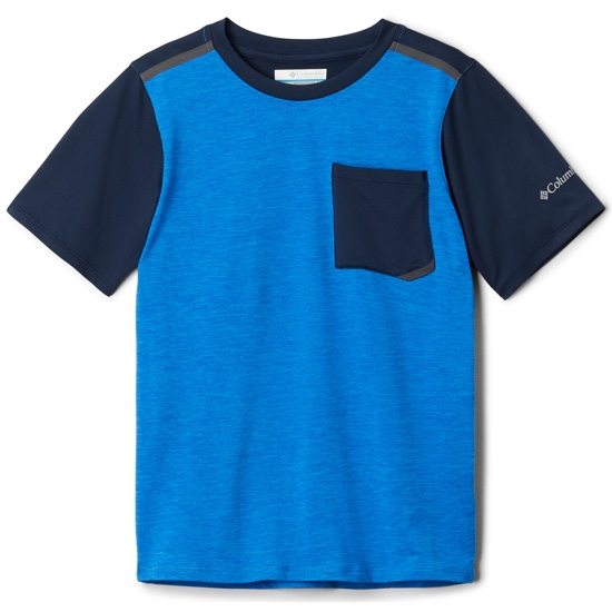 Columbia Tech Trek SS Shirt Boy - Azure Blue Heather