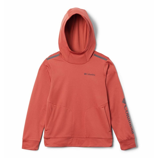 Columbia Tech Trek Hoodie Girl - Carnelian Red