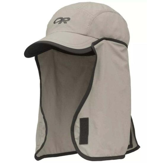 Outdoor Research Sun Runner Cap Kids - Khaki/Dark Grey