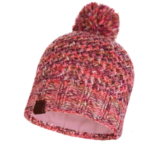 Buff Margo Knitted Hat - Flamingo Pink