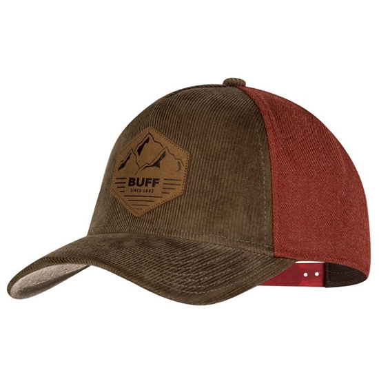 Buff Snapback cap Sergei Fossil - Brown/Red