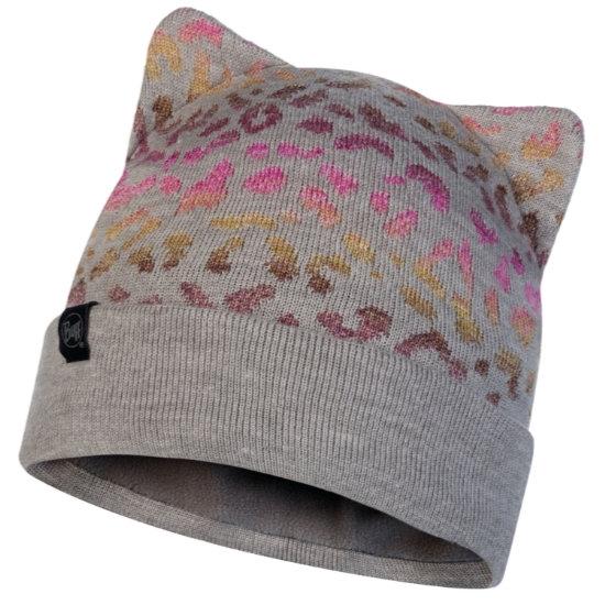 Buff Alisa Knitted Hat Jr - Melange Grey