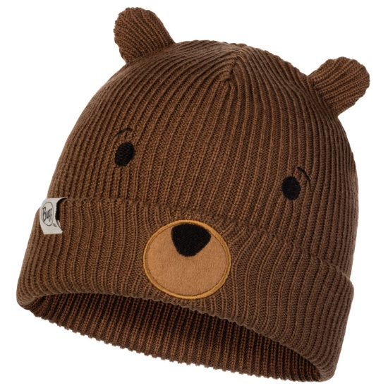 Buff Funn Knitted Hat Jr - Bear