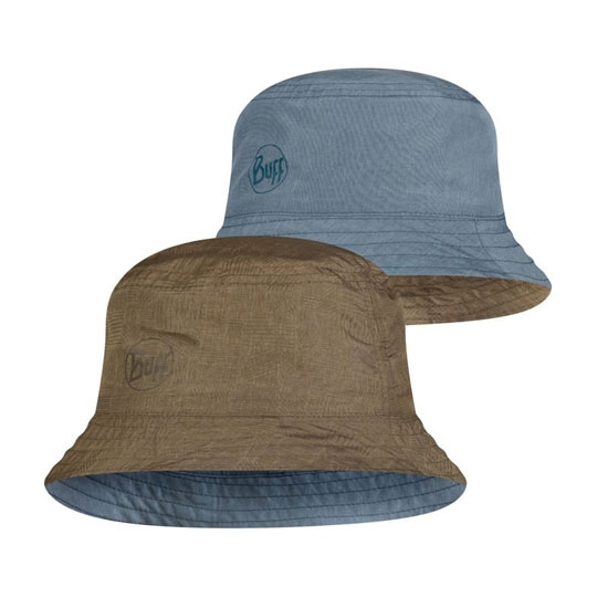 Buff Travel Bucket Hat - Zadok Blue-Olive
