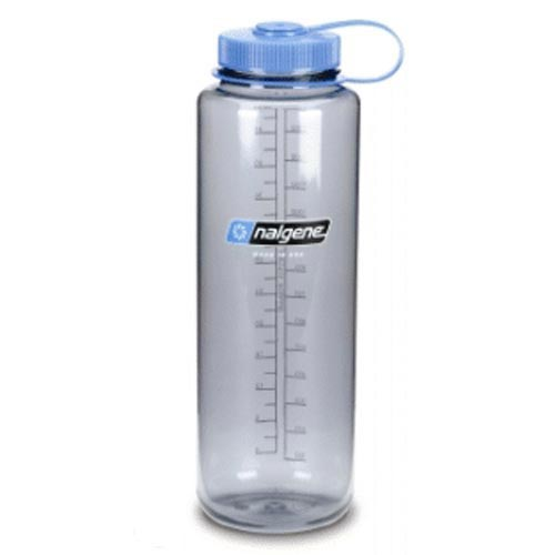 Nalgene Wide Mouth Bottle - Grey/Blue Lip - 1.5 L