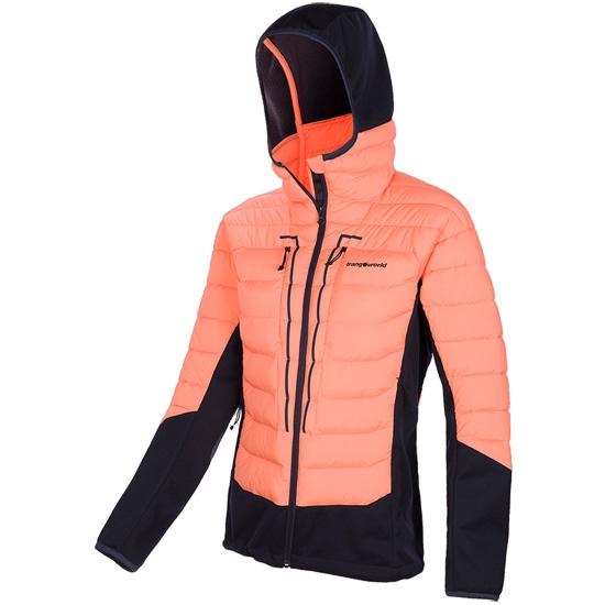 Trangoworld Abeille Jacket W - Coral/Negro Azulado