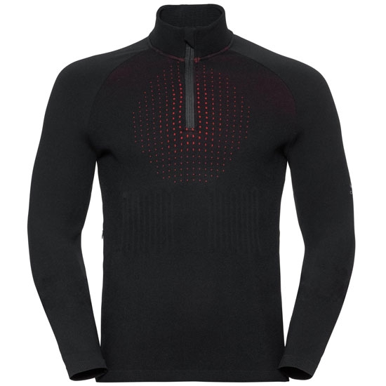 Odlo I-Thermic Midlayer ½ Zip - Black