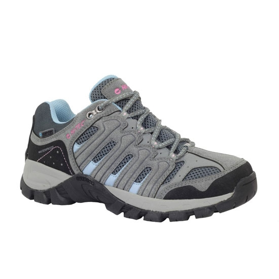 Hi-tec Gregal Low WP W - Dark Grey/Light Blue