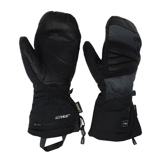 Outdoor Research Lucent Heated Mitts - Black