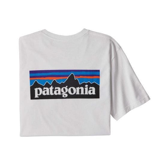 Patagonia P-6 Logo Respon Tee - White