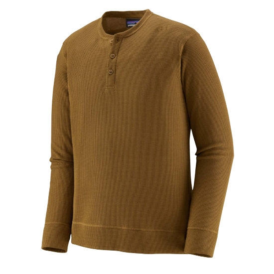Patagonia Waffle Knit Henley - Mulch Brown