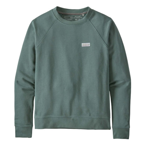 Patagonia Pastel P-6 Label Organic Crew Sweater W - Regen Green