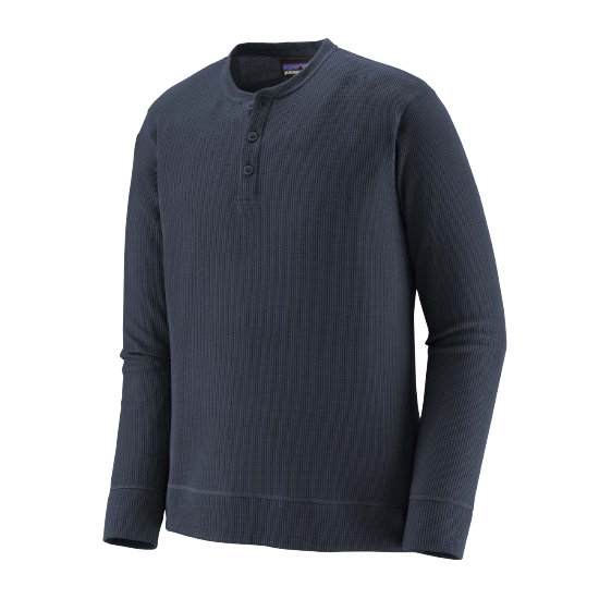 Patagonia Waffle Knit Henley - New Navy