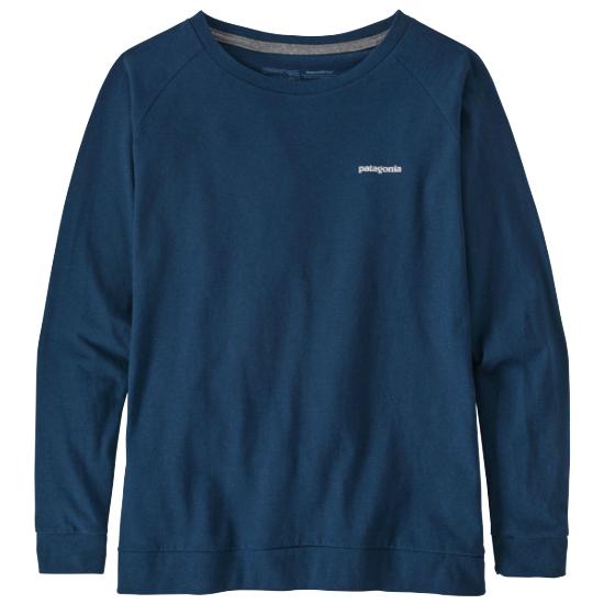Patagonia Pastel P-6 L/S Logo Resp-Tee W - Crater Blue
