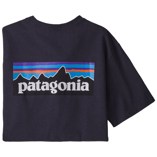 Patagonia P-6 Logo Responsibili Tee - Piton Purple