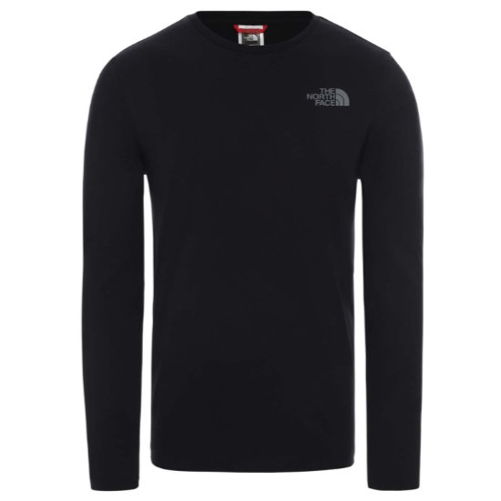 The North Face Easy LS Tee - Tnf Black/Zinc Grey