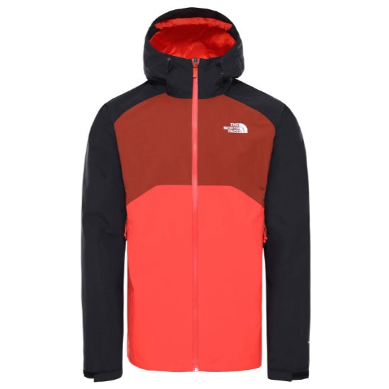 The North Face Stratos Jacket - Flare/Tnf Blck/Brandy Brn