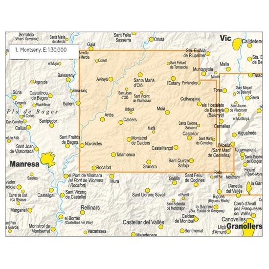 Ed. Piolet Mapa Moianès 1:30000 - Detail Foto