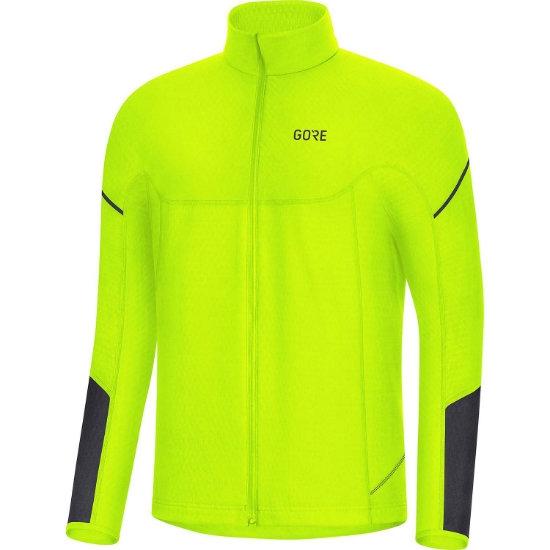Gore Thermo LS Zip Shirt - Neon Yellow/Black