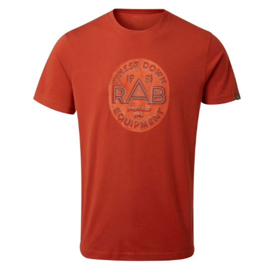 Rab Stance Monument SS Tee - Red Clay