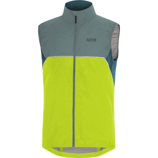 Gore R7 Partial GTX Vest - Citrus Green/Nordic Blue
