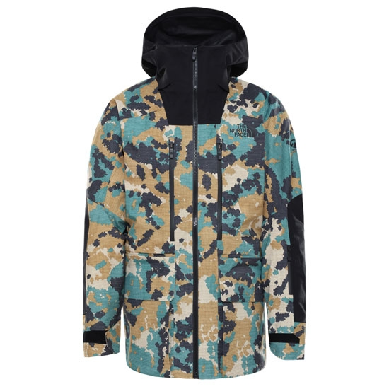 The North Face Summit A-Cad Futurelight Jacket - Timber Tan Digi Topo Xl Print-TNF Black