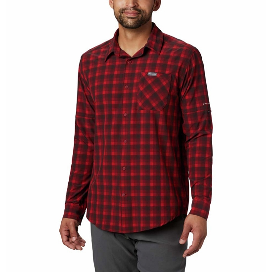 Columbia Triple Canyon LS Shirt - Mountain Red Mini