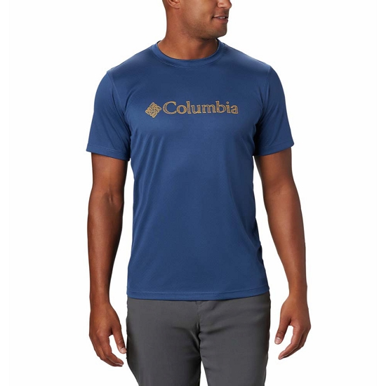 Columbia Zero Rules SS Graphic Shirt - Carbon CSC