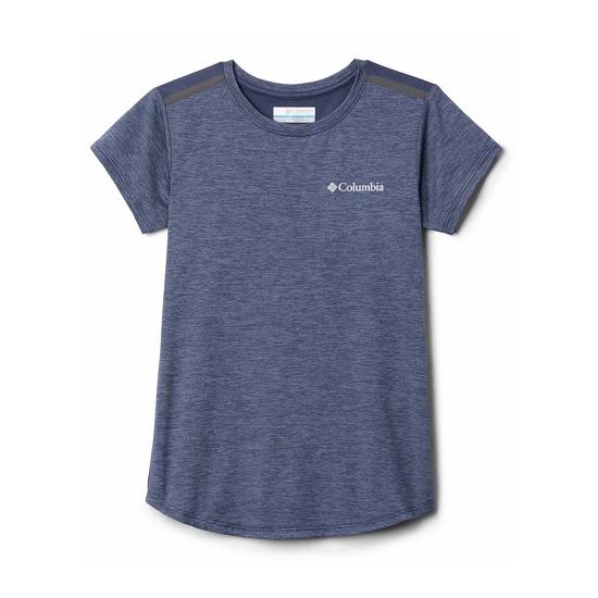 Columbia Tech Trek SS Shirt Girl - Nocturnal Heather