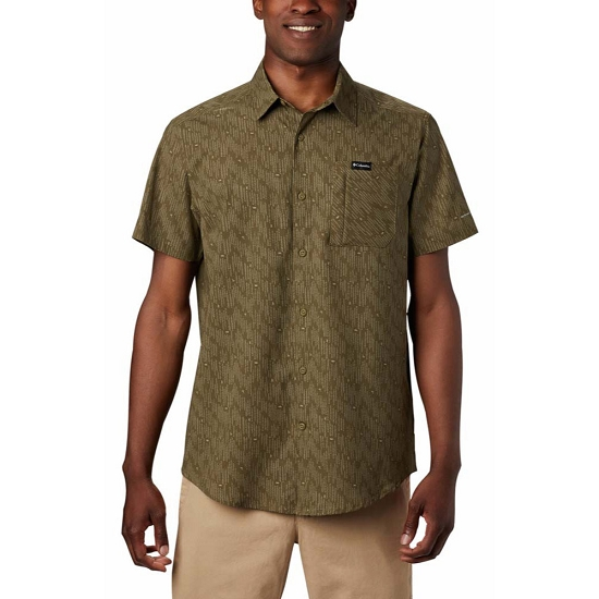 Columbia Triple Canyon SS Shirt - New Olive Maze