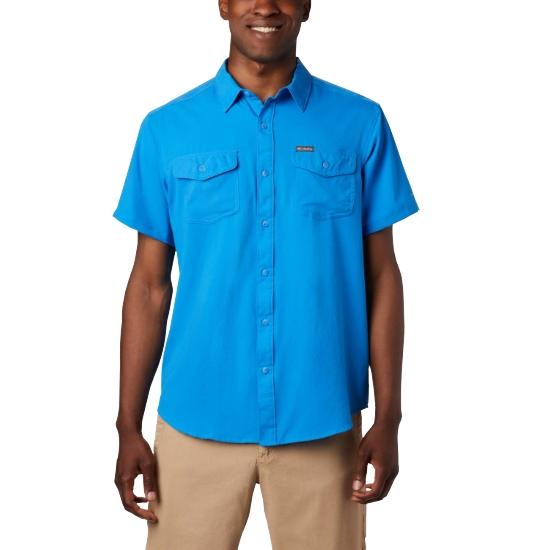 Columbia Utilizer II Solid Ss Shirt - Azure Blue