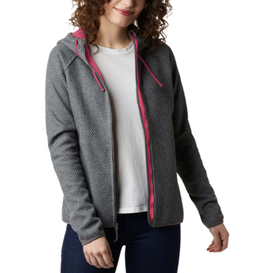 Columbia Pacific Point Fz Hoodie W - City Grey Heather