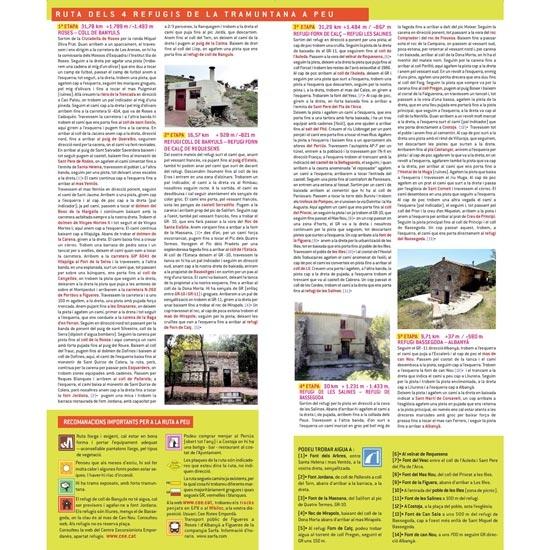 Ed. Piolet Mapa Ruta dels 4 refugis de la Tramuntana 1:25000 - Photo of detail