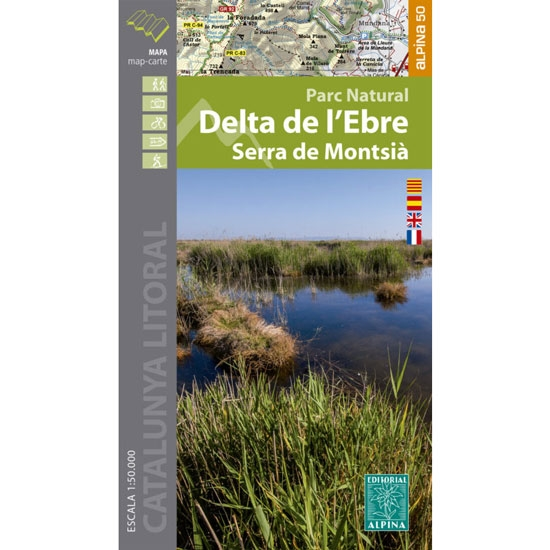Ed. Alpina Mapa Delta del Ebro 1:50000 -