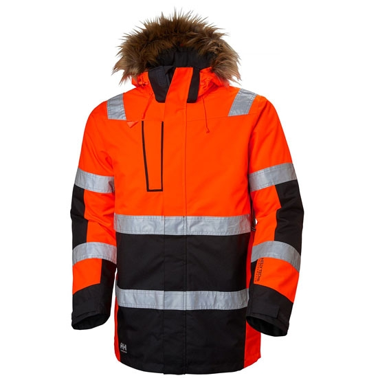 Helly Hansen Workwear Alna Winter Parka - Red/Ebony