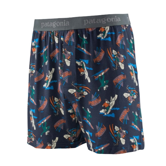 Patagonia Essential Boxers - Mr. Badger: New Navy