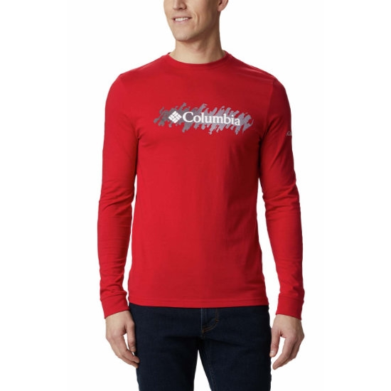 Columbia Lodge LS Graphic Tee - Red