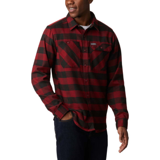 Columbia Outdoor Elements Strech Flannel - Red