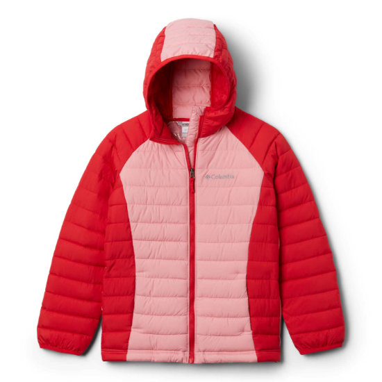 Columbia Power Lite Hooded Girl - Red
