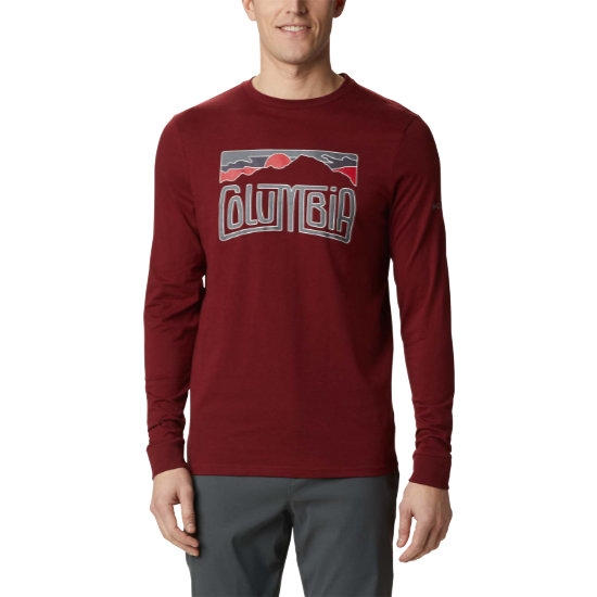 Columbia Outer Bounds Ls Graphic Tee - Red