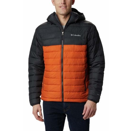Columbia Powder Lite Hooded Jacket - Orange/Grey
