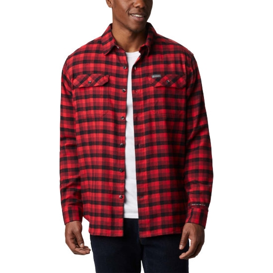Columbia Flare Gun Strech Flannel - Red